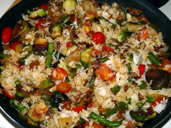 Garden Vegetable Rice Fry