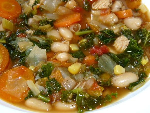 Garden Vegetable White Bean Soup