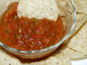 Roasted Roma Tomato Salsa
