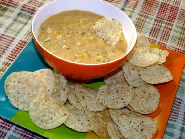 Cheesy Zucchini Corn Dip