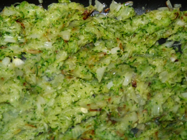 Stir zucchini into onions and saute 5 minutes