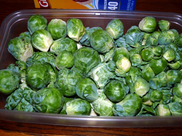 Remove sprouts from stalk and place in a container