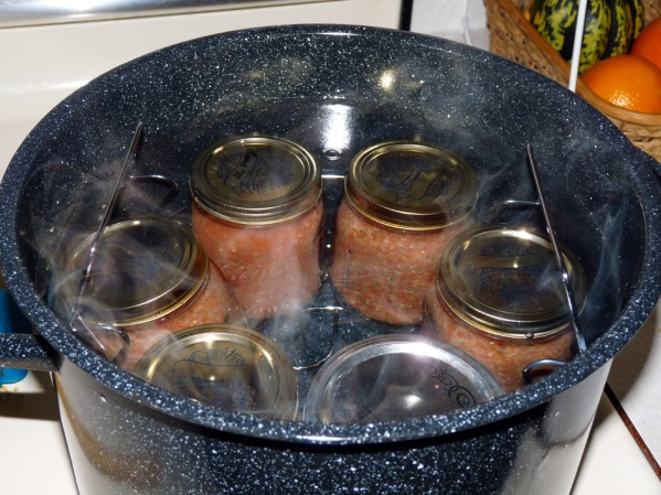 Place in jars and process 15 minutes in a hot bath in the canner