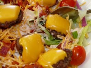 Bacon Cheeseburger Salads