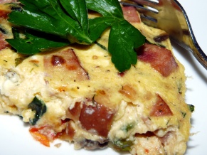 Ham and Veggie Frittata