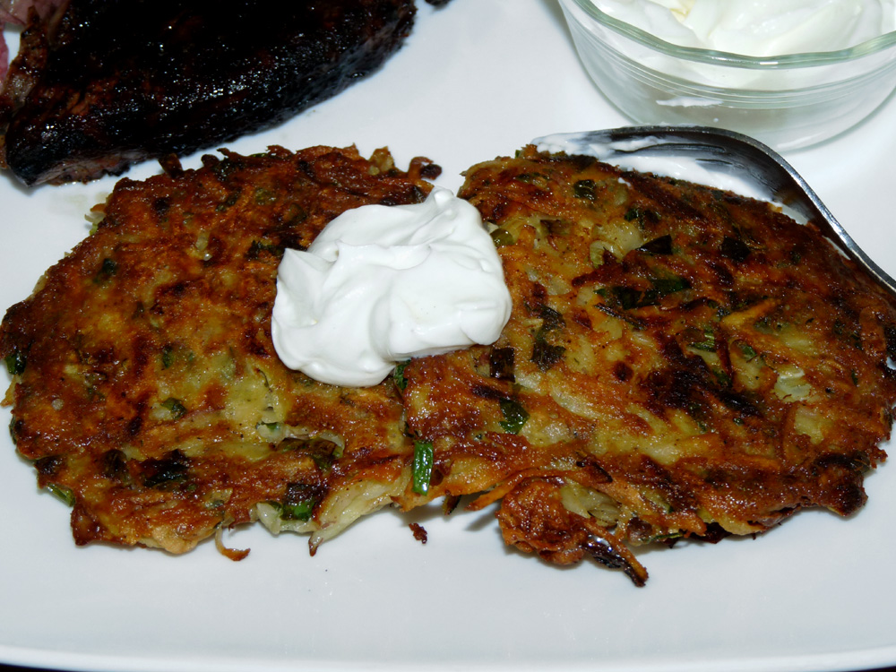 Loaded Potato Fritters