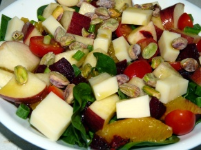 Beet Salad with Oranges and Apple