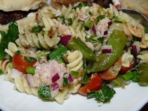 Vegetables and Tuna Pasta Salad
