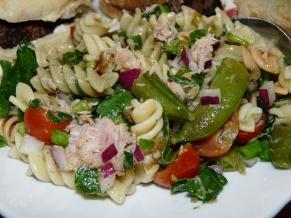 Vegetables and Tuna Pasta Salad