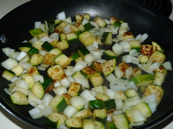 Add diced onions and satue for several more minutes
