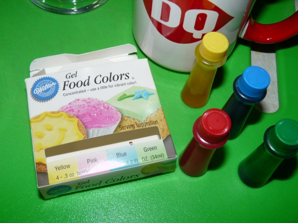 You can use regular food coloring or gel colors