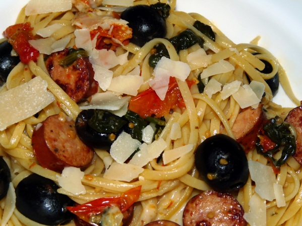 LInguine with Lemon and Sausage