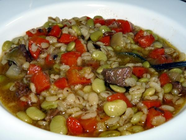 Beef Barley Leek Soup