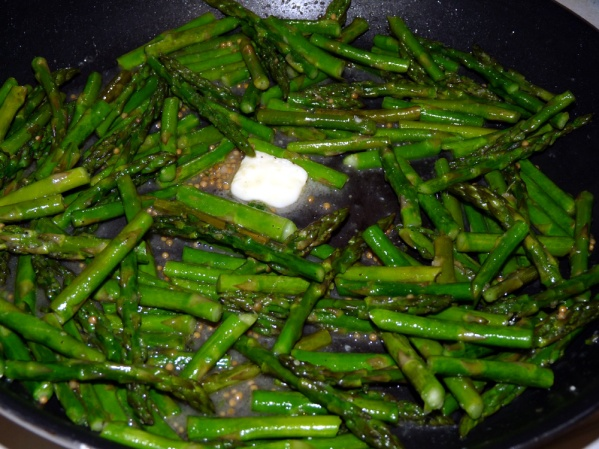 Stir in ginger garlic sauce and butter