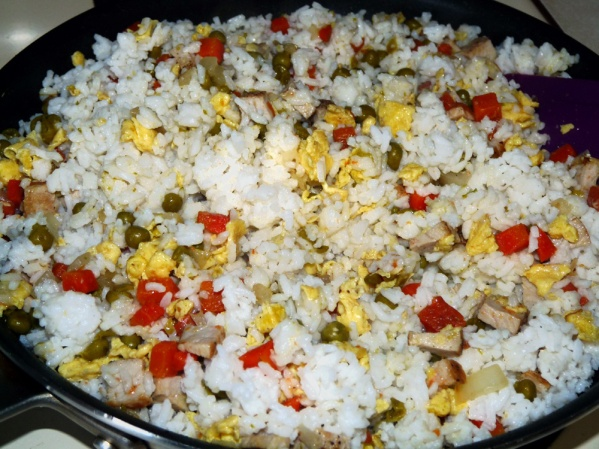 Mix rice with rest of ingredients