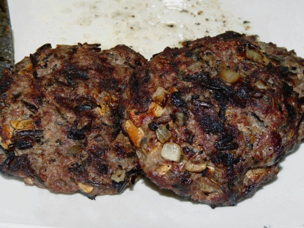 Grill or fry burgers until cooked through