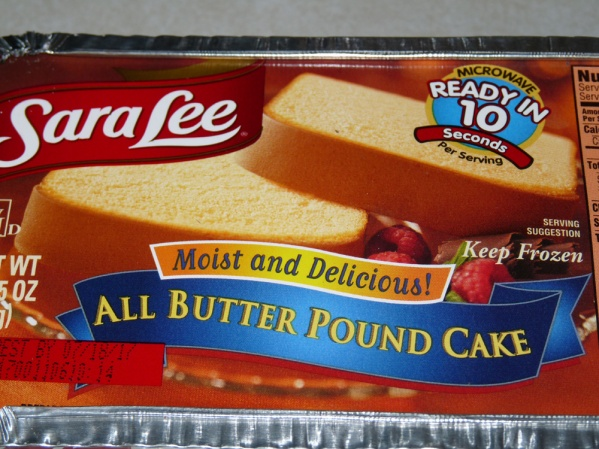 The pound cake of choice for my trifles