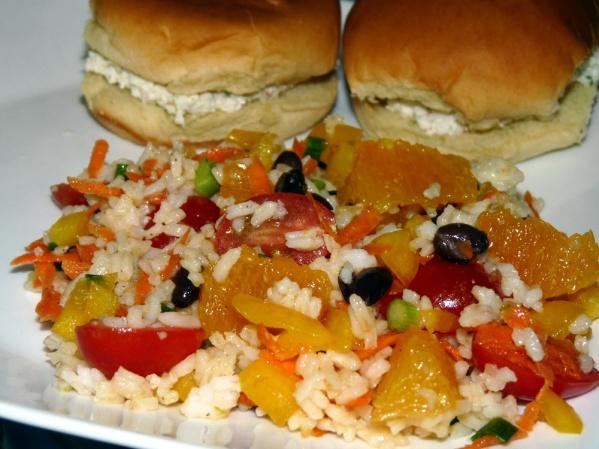 Rice Bean and Citrus Salad