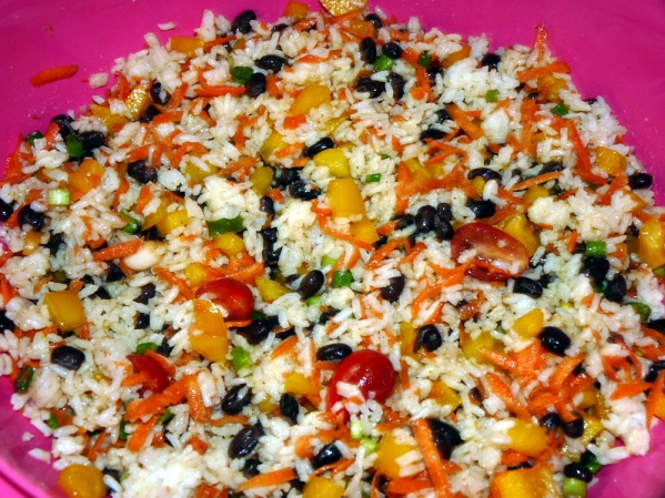 Stir in rice and taste test for seasoning