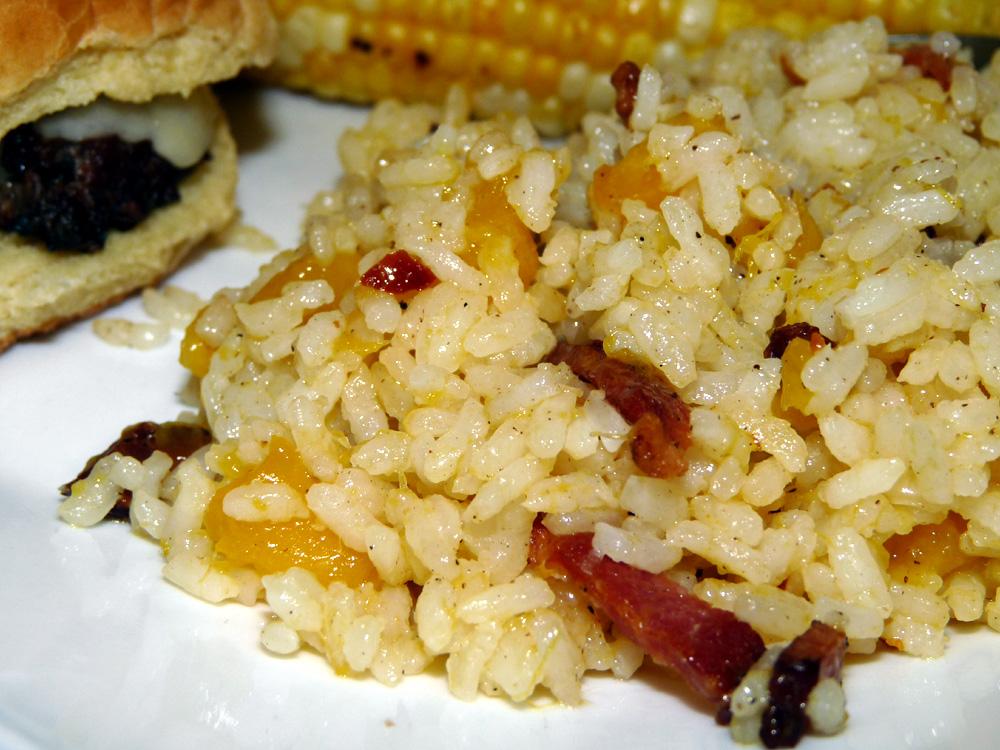 Bacon Mango Fried Rice
