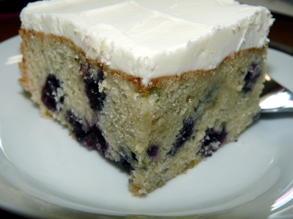Blueberry Zucchini Snacking Cake
