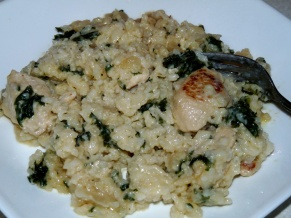 Cheesy Chicken and Rice with Kale