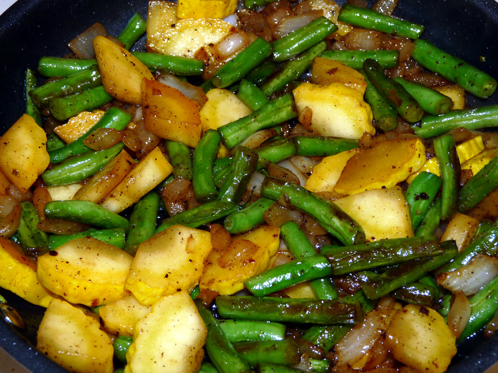 Green Beans and Summer Squash Fry