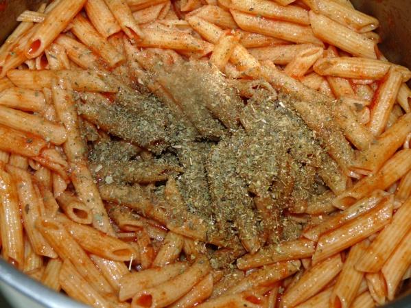 Add tomato paste and seasonings