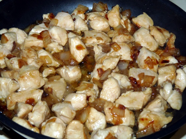 Add chicken and cook through, about 7-8 minutes, stirring occasionally