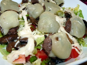 Mini Mushroom and Swiss Burgers Salad