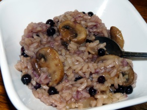 Mushroom Blueberry Risotto