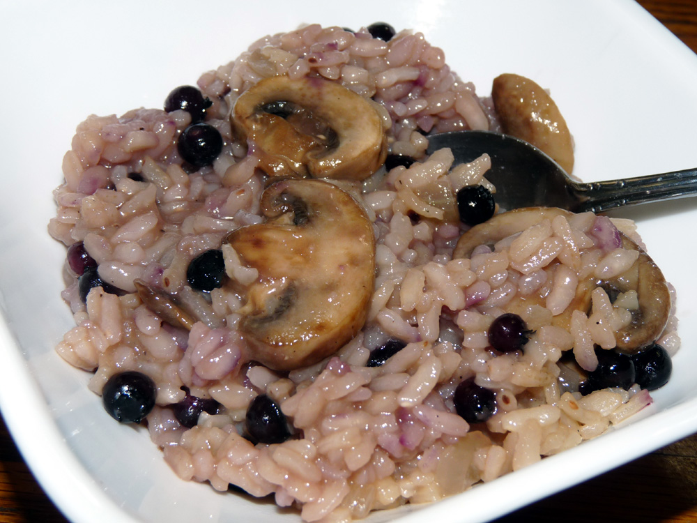 Mushroom Blueberry Risotto