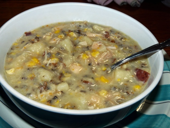 Turkey Corn Chowder with Wild Rice