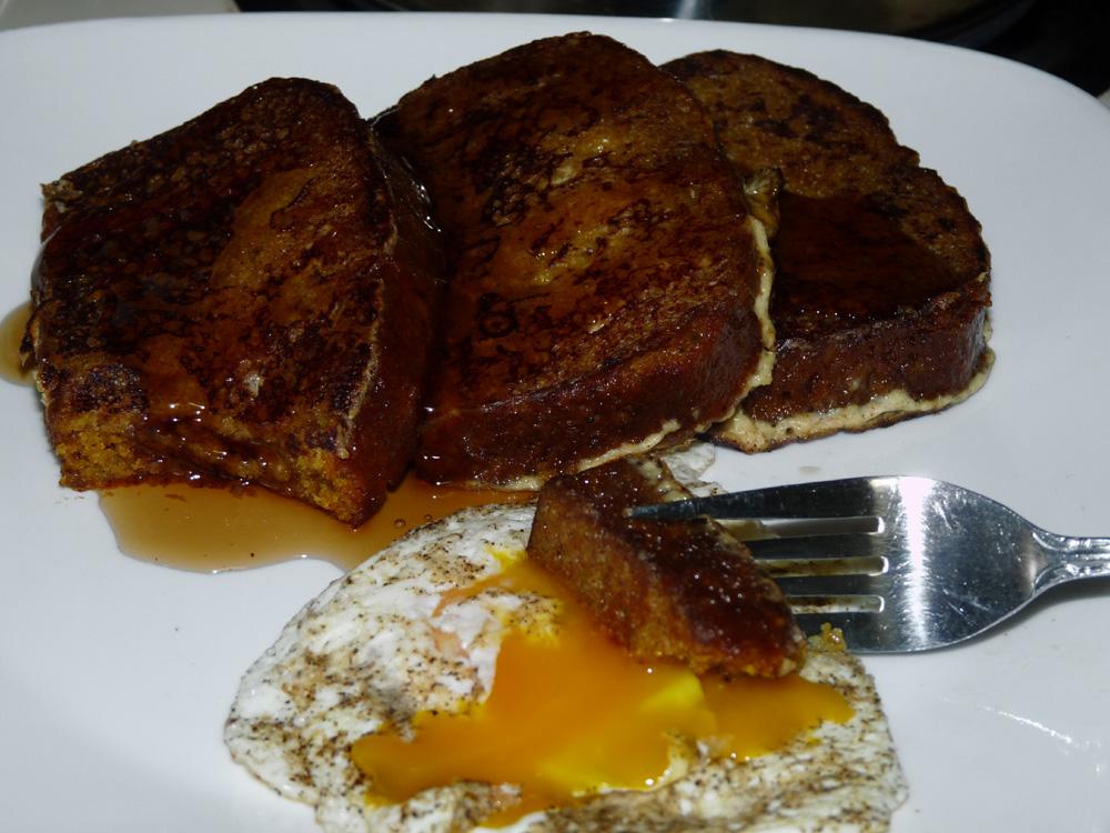 Pumpkin Bread French Toast