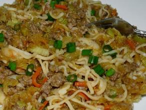 Spaghetti Squash Chow Mein