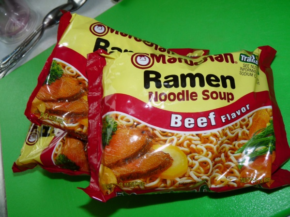 Open ramen noodles and cook in salted water until al dente