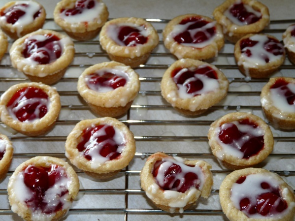 Sugar Cookie Cup Cherry Pies