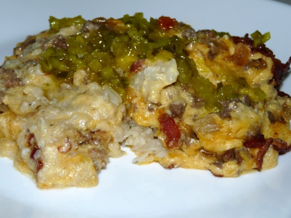 Bacon Cheeseburger Cauliflower Bake