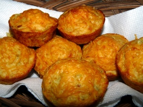 Cheesy Green Chilies Cornbread Muffins