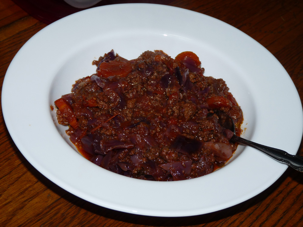 Crockpot Red Cabbage Stew