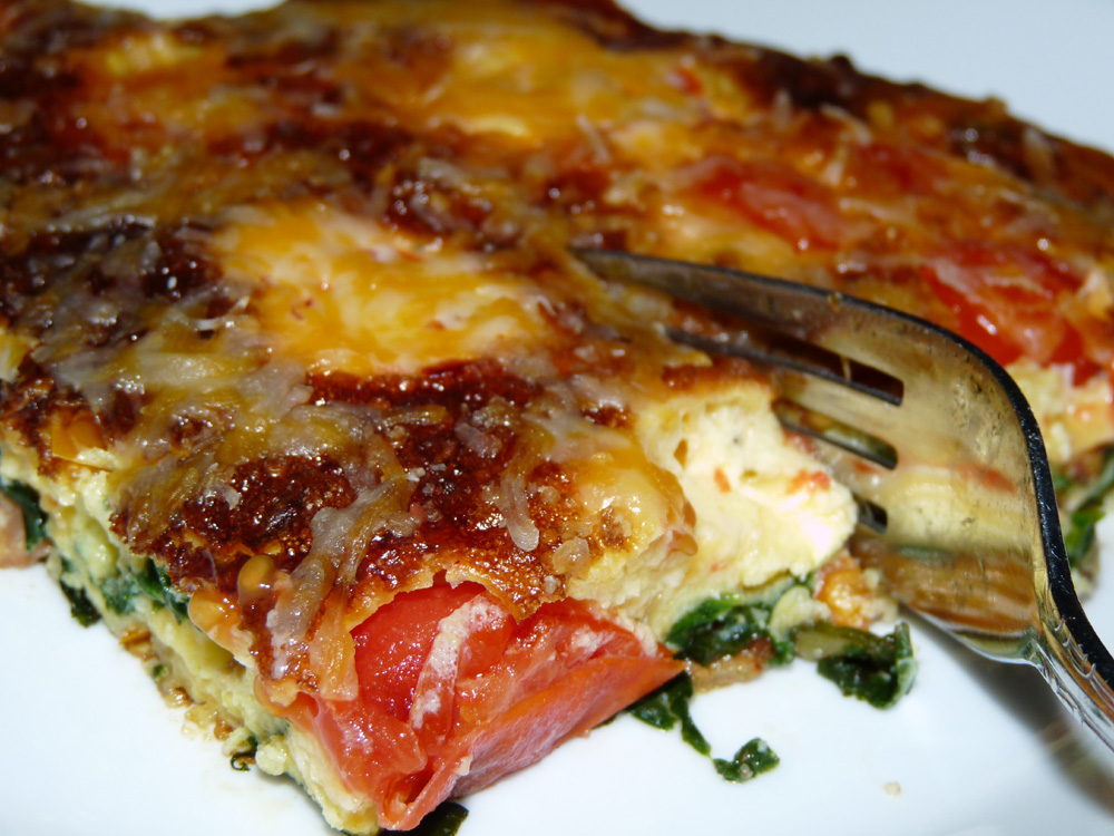 Spinach and Bacon Frittata