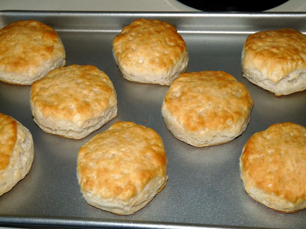 Bake biscuits until golden brown