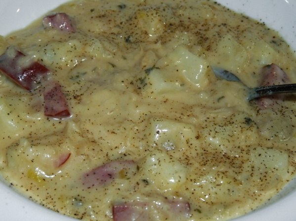 Creamy Sauerkraut and Sausage Chowder