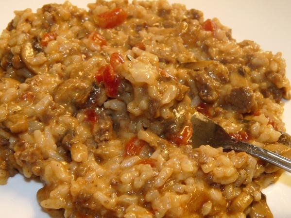 Beefy Golden Mushroom Rice Casserole {Copy Cat Recipe}