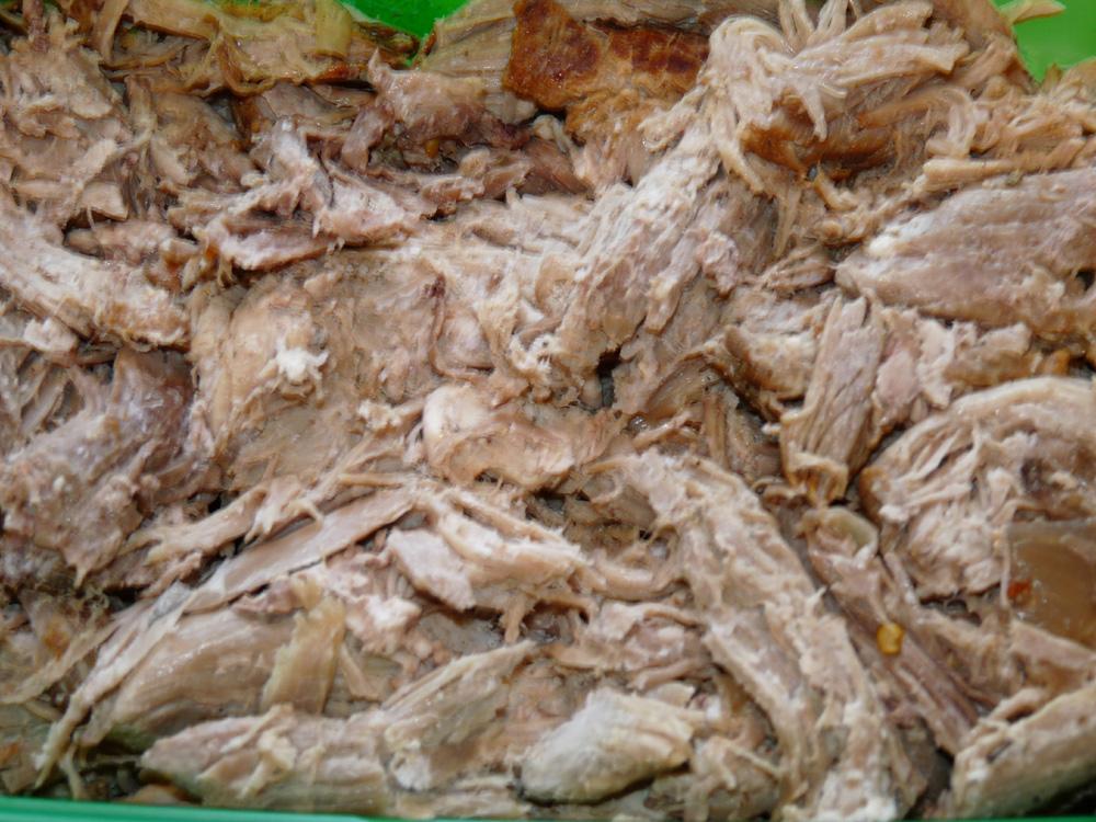 Leftover shredded pork