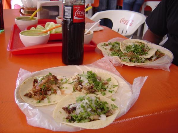 Mazatlan, eating tongue tacos at a local eatery