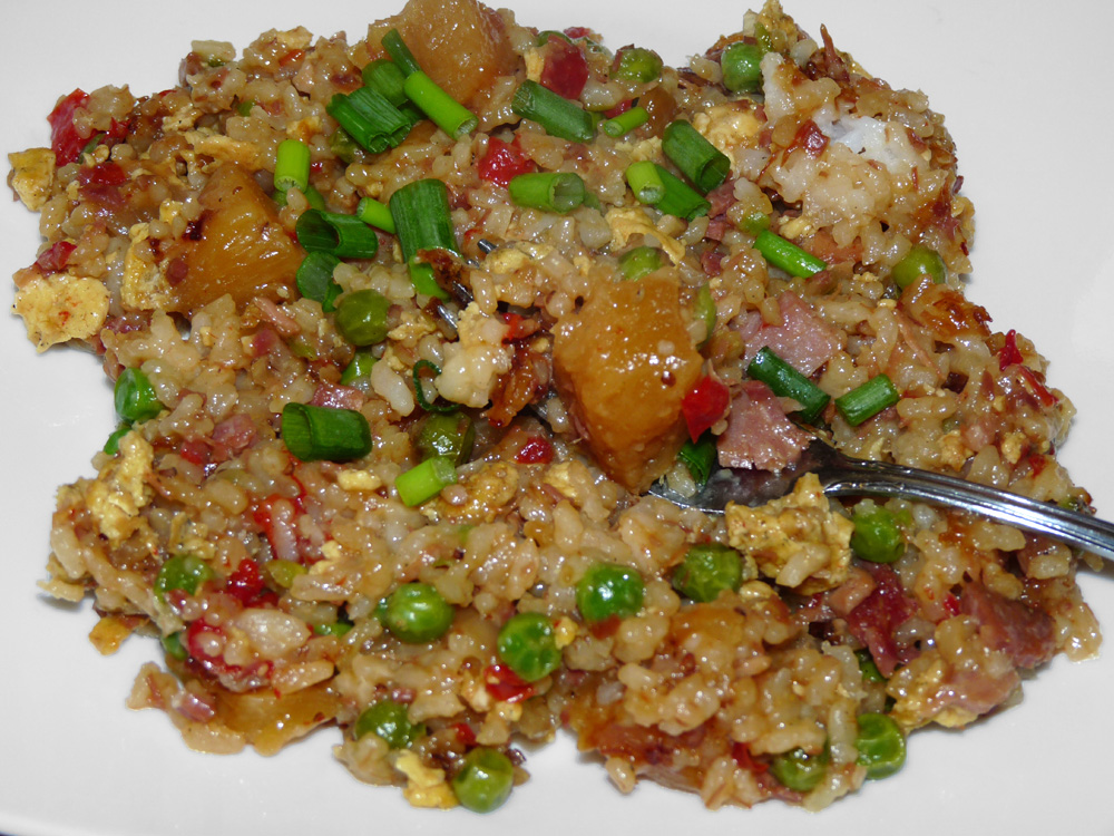 Leftover Ham and Pineapple Fried Rice