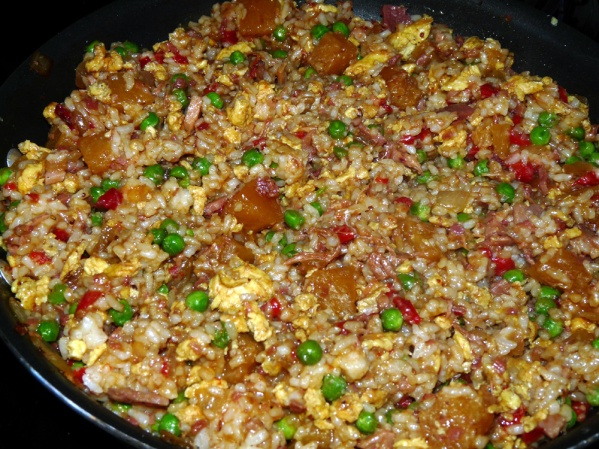Add soy sauce to taste and serve sprinkled with chopped green onions