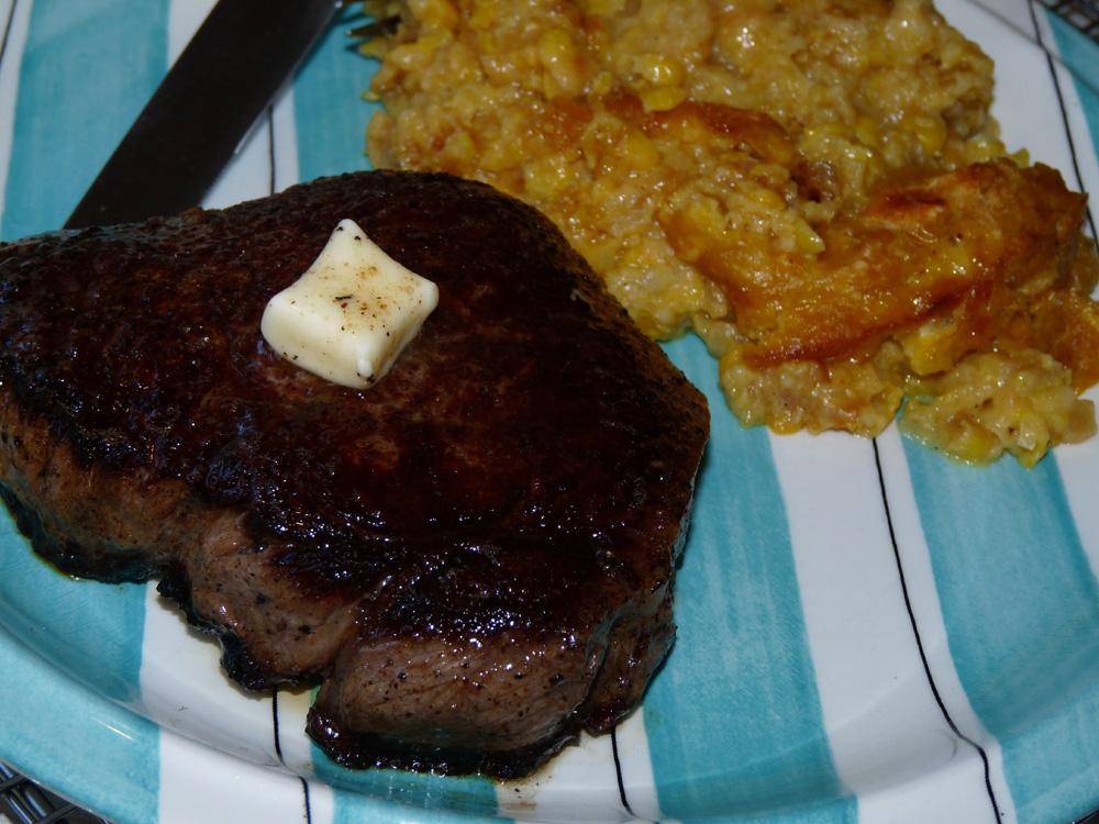Let steak rest 5 minutes before eating.