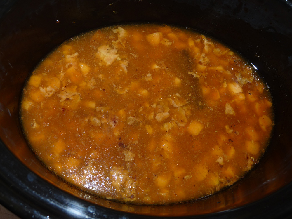 Pour juices into skillet with 1/2 cup sugar. Cook on medium high until reduced to half.